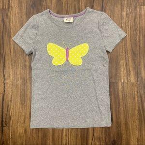 Mini Boden | Butterfly Appliqué Tee, 7/8